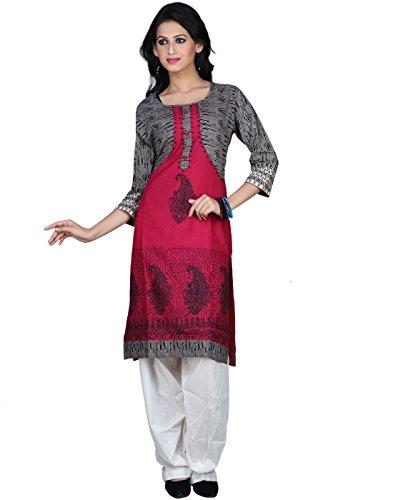 Sareeshut Pink Color Cotton Fabric Readymade Printed Kurti