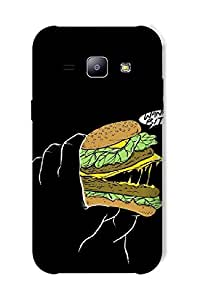 Timpax Protective Hard Back Case Cover Printed Design : Food mania.For Samsung Galaxy J1