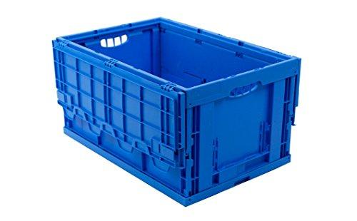 klappbox mit deckel 60 liter faltbox 60x40x33cm stabile transportkiste transportbox t v zert. Black Bedroom Furniture Sets. Home Design Ideas