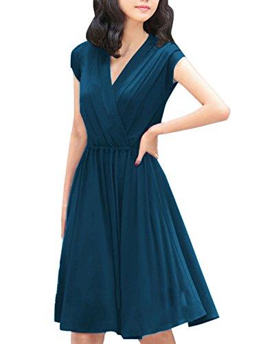 allegra-k-women-crossover-deep-v-neck-elastic-waist-dress-dark-blue-l