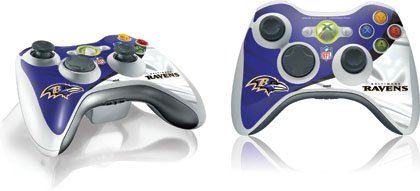Skinit Baltimore Ravens Vinyl Skin For 1 Microsoft Xbox 360 Wireless Controller Picture
