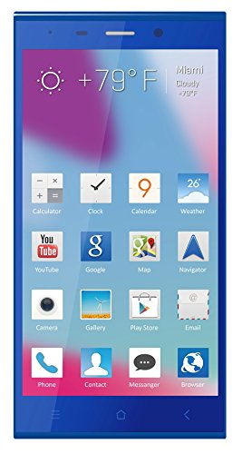 Blu Life Pure Xl Full Hd, 16Mp, 2.2Ghz Quad Core Unlocked Cell Phones - Retail Packaging - Blue