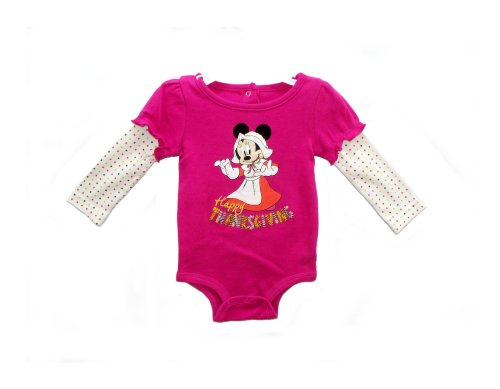 Disney Minnie Mouse Happy Thanksgiving Baby Bodysuit Dress Up Outfit