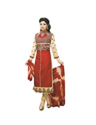 Siddhi Unstitched Cotton Printed Salwar Suit Dupatta Material ( SKHUSICD-27AA )