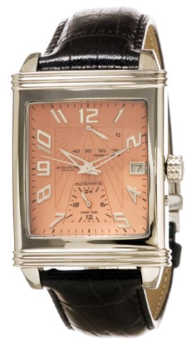 Stuhrling Original Men's 42AA.331555 Classic 'Charleston' Dual-Time Zone Watch