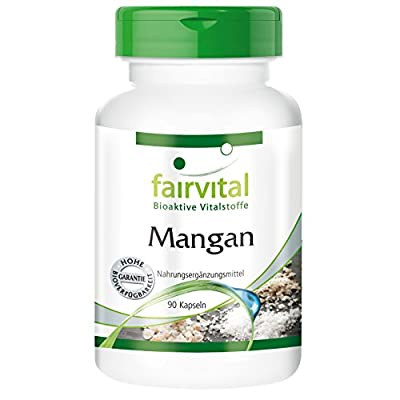 Fairvital - Manganese 10mg - In Pure Form - 90 Vegetarian Capsules by fairvital