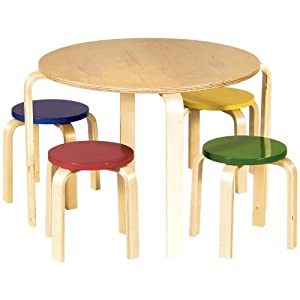 Guidecraft Multi-Colored Nordic Table Set by GuideCraft