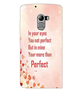 PrintDhaba Quote D-4245 Back Case Cover for LENOVO VIBE X3 LITE (Multi-Coloured)