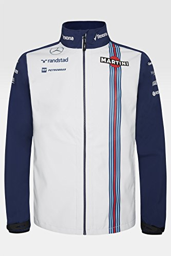 Williams Martini Racing Team Replica giacca da uomo Softshell, Formula 1, F1, Massa, Bottas, Blu, blu, M