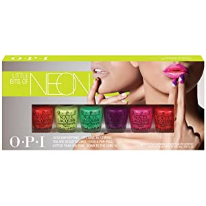 OPI Nail Lacquer, Neon Collection Little Bits, 6 Count
