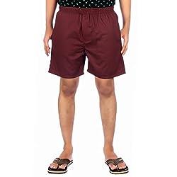 Aaduki Men's Cotton Shorts_Maroon_XL