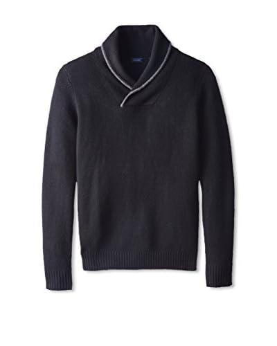 Thirty Five Kent Men's Cashmere Marled Jersey Shawl Collar