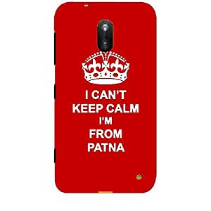 Skin4gadgets I CAN'T KEEP CALM I'm FROM PATNA - Colour - Red Phone Skin for NOKIA LUMIA 620