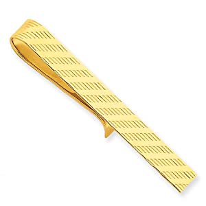 14k Yellow Gold Tie Bar.