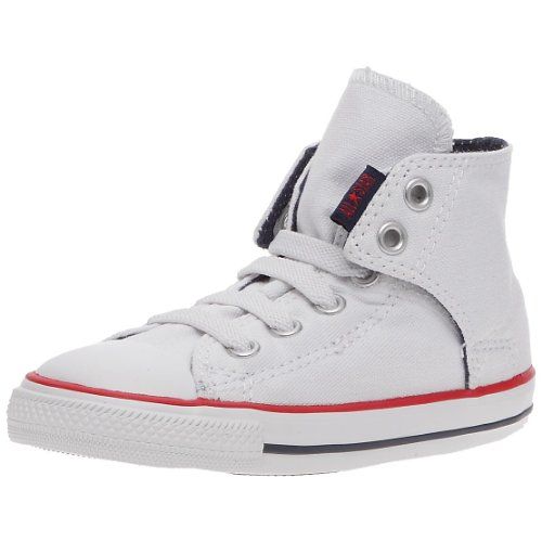 CONVERSE Unisex-Child Chuck Taylor All Star Easy Slip Slip Hi Trainers 064170-21-3 Blanc 10 UK, 26 EU