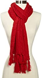 Dearfoams Women's Cable-Knit Scarf