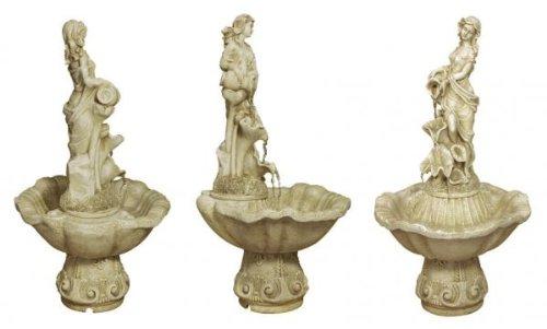 Fontaine Couleur Nacre - Figurine Liliana sur pilier