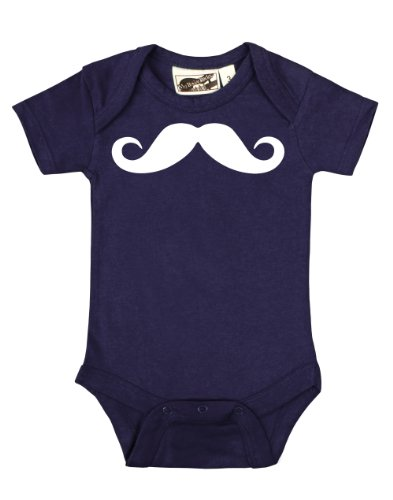 Stache Navy Blue One Piece 6-12 Months front-215235