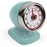 Kikkerland Vintage Streamline Kitchen Timer, Blue
