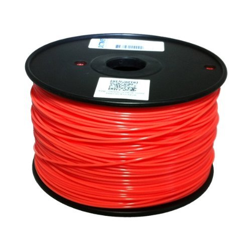ABS 1.75mm Red, 1Kg on Spool for Reprap, Mendel, Darwin, MakerBot, RapMan and other 3D Printers