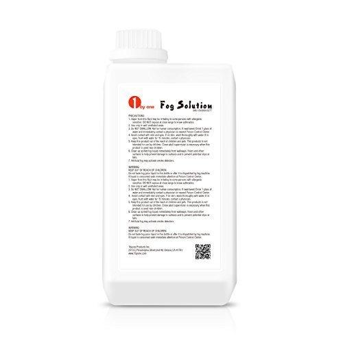 1byone 0.264 Gallon (1000ml) Fog Juice Fluid for Water Based Fog Machines