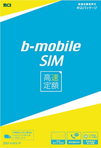 【日本通信】月額1,980円でLTEデータ通信無制限「b-mobile SIM 高速定額」音声通話は+800円