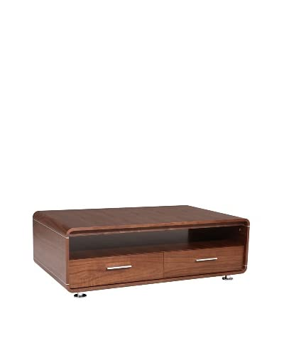 Urban Spaces Ifun Coffee Table, Light Walnut