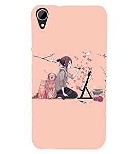 printtech Anime Cute Beautiful Girl Art Back Case Cover for HTC Desire 828 dual sim
