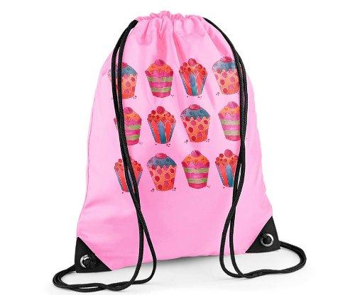 Girls Swim Bag, Pink Gym Bag, Girls PE bag, Cupcake Bag