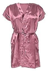 Le Fantasia Women Night Gown Kimono(Pink, Large)