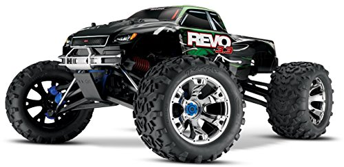 Traxxas Revo 3.3: 1/10 Scale 4WD Nitro-Powered Monster Truck with TQi 2.4GHz Radio & TSM, Green