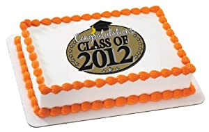 Edible Cake Images For Graduation : Amazon.com: Graduation Edible Cake Topper Decoration ...
