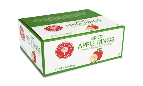 Unsulfured Dried Apples Rings 3lb box