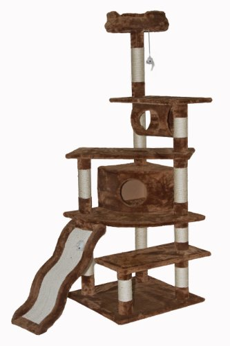 Go Pet Club Cat Tree, 70-Inch, Brown