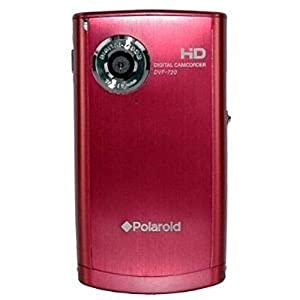 Polaroid DVF-720RC Digital Camera with 3xOptical Zoom 2.4-Inch LCD Screen - Red