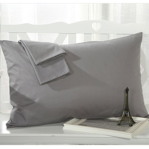 Cheap YAROO Pillowcase, Genuine Egyptian Cotton 300 Thread Count Standard 2-Piece Pillow case Set,So...