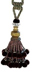 Xia Home Fashions Artisan Ball Tassels Plum