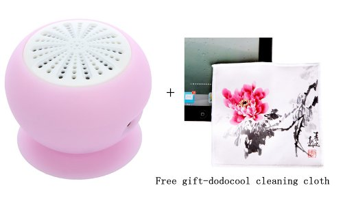 Mini Stereo Bluetooth Speaker Subwoofer Bass Sound Box For Iphone Ipod Ipad Handsfree Mic Car Suction Cup (Pink)