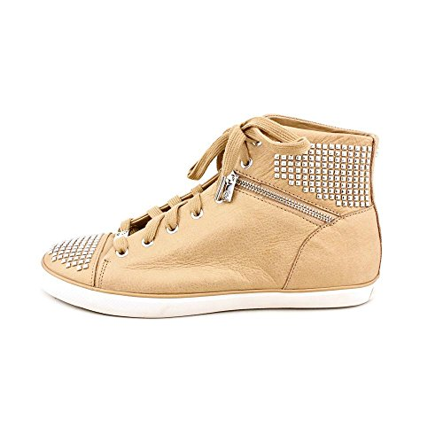 MICHAEL Michael Kors Women's Boerum Studded Leather High-Top Sneakers (10 M US Women, Dark Khaki)