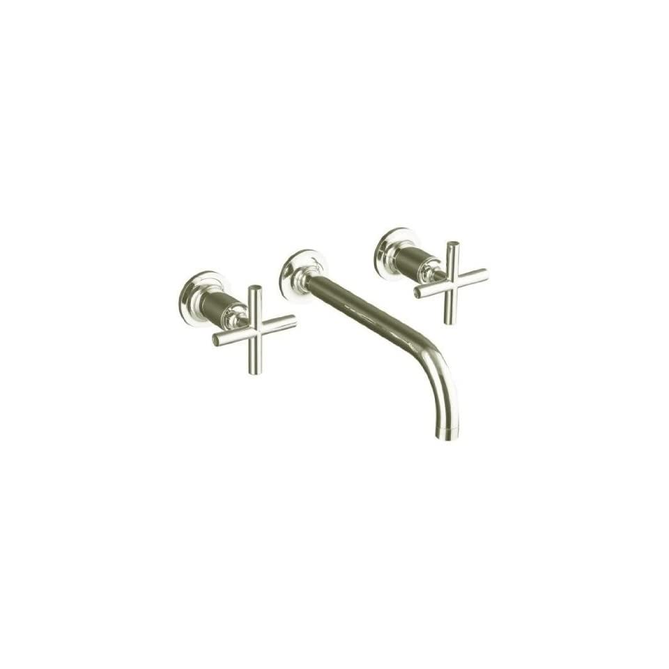 Kohler Purist Polished Nickel Wall Mount Bathroom Sink Faucet w/Cylinder Cross Handles + 9 Spout