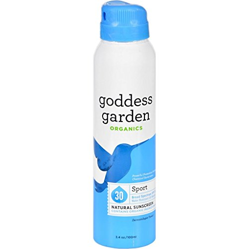 Goddess Garden Sunscreen - Natural - Sport - SPF 30 - Continuous Spray - 3.4 oz (Star Wars Blowers compare prices)