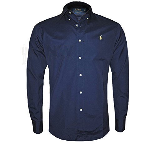 ralph-lauren-polo-long-sleeve-mens-custom-fit-shirt-black-navy-white-smlxlxxl-large-navy