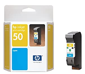 HP 50 Inkjet Print Cartridge (Cyan)