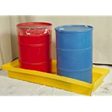 "Dixie Poly BM-ED-2 Polyethylene 2 Drum Econo-Dike, 61 gallon Sump Capacity, 65.5"" Length x 29"" Width x 9"" Height"