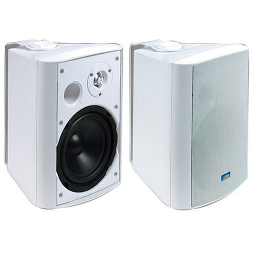 TIC ASP-120W Architectural Series 120-Watt Exterior Patio Speakers, White