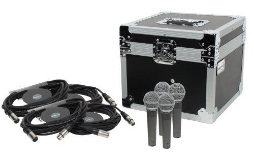 Shure Sm58 4 Pack Bundle + Xspro Ata Microphone Case + 4 25' Xlr Cables
