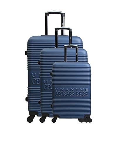 Unanyme Georges Rech Set de 3 trolleys rígidos Galati Azul