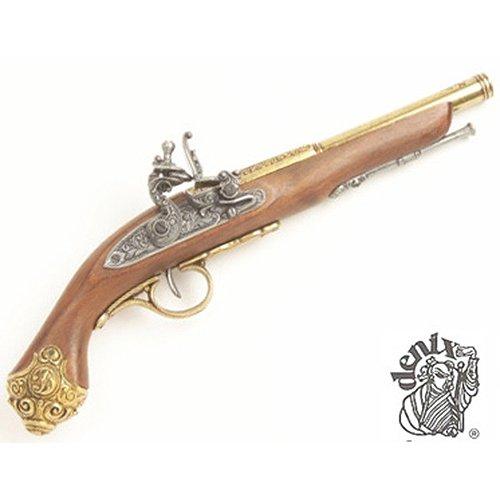 Denix 18th Century Flintlock Pistol with Brass Ornate Handle Butt - Non-Firing Replica (Gun Replica Non Firing compare prices)