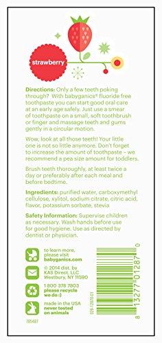 Babyganics 无氟 儿童专用牙膏 113g*2支图片