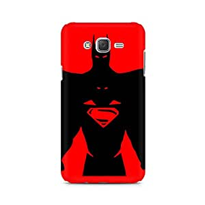 Ebby Superman within Batman Premium Printed Case For Samsung J1 2016 Version